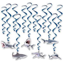 Beistle Shark Hanging Whirls - 12ct.