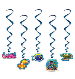 Beistle Under The Sea Hanging Whirls - 5ct.