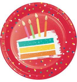 "creative converting Festive Cake 7"" Plates - 8ct."
