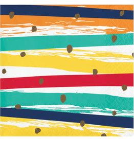 creative converting Birthday Stripes Bev. Napkins - 16ct.
