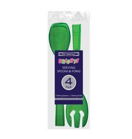 "northwest 9.5"" Neon Green Serving Fork & Spoon Set  - 4ct."