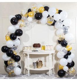 creative converting Black/White/Gold Balloon Arch Kit