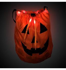 Fun Central Light-Up Pumpkin Treat Bag w/ Handle