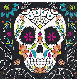 unique Day Of The Dead Lunch Napkins - 20ct.