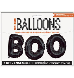 unique 'BOO' Balloon Banner Kit - Air Fill Only