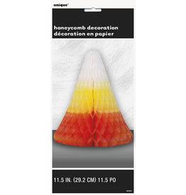 """unique Honeycomb Candy Corn Centerpiece - 11.5"""""""