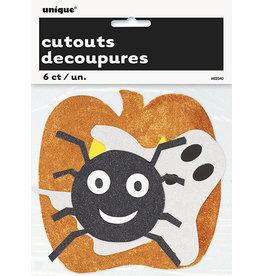 unique Mini Glitter Halloween Cutouts - 6ct.