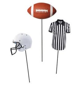 creative converting Football Centerpiece Sticks - 3ct.