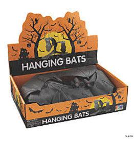 fun express Halloween Black Bats w/ String - 1ct.