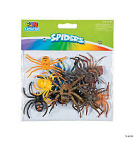 fun express Colorful Plastic Spiders - 12ct.