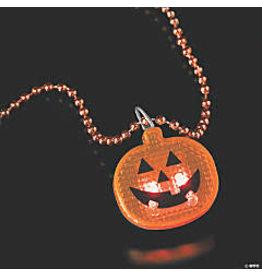 """fun express Light Up Pumpkin Necklace - 24"""""""