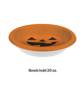 creative converting Halloween Pumpkin Paper Bowl - 20oz