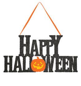 "creative converting Happy Halloween Glitter Sign - 11"" x 5.5"""