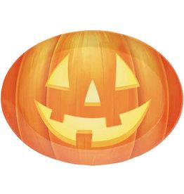 "creative converting Oval Pumpkin Serving Tray - 14"""
