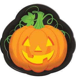 "creative converting Pumpkin Shaped Serving Tray - 14"""