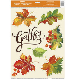 unique Gather/Leaves Window Clings - 7ct.