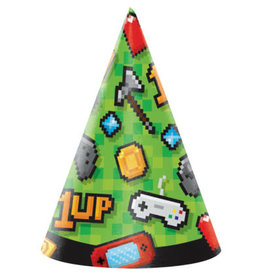 creative converting Gaming Party Party Hats - 8ct.
