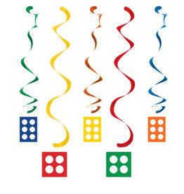 creative converting Block Party Dizzy Danglers - 5ct.