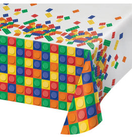 """creative converting Block Party Tablecover - 54"""" x 102"""""""