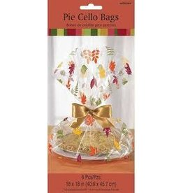 Amscan Fall Leaves Cello Bags - 6ct.