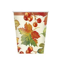unique Berries & Leaves 9oz Cups - 8ct.