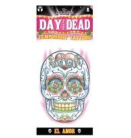 Tinsley Transfers Day Of The Dead Tattoo (El Amor)