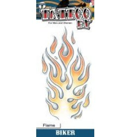 Tinsley Transfers Biker Flame Tattoo