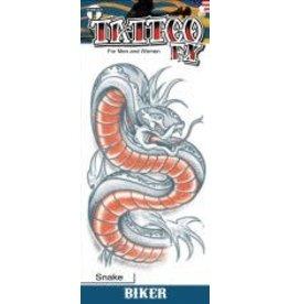 Tinsley Transfers Snake Biker Tattoo