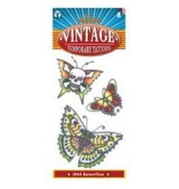 Tinsley Transfers Vintage 1960's Butterfly Tattoos