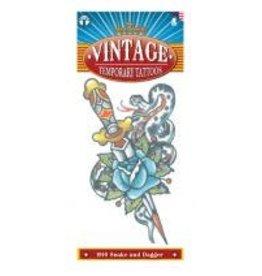 Tinsley Transfers Vintage Snake & Dagger Tattoo