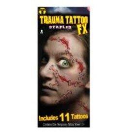 Tinsley Transfers Trauma Staples Tattoos - 11ct.