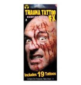 Tinsley Transfers Carving Board Trauma Tattoos - 21ct.