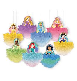 Amscan Disney Princess Fluffy Decorations - 8ct.