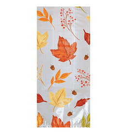 Amscan Fall Foliage Small Cello Bags w/ Ties - 20ct.