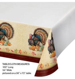 "creative converting Harvest Turkey Tablecover - 54"" x 102"""