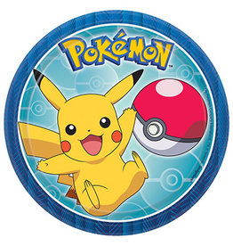 """Amscan Pokemon 7"""" Plates - 8ct."""
