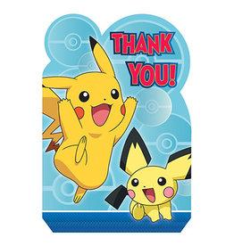 Amscan Pokemon Thankyou's - 8ct.
