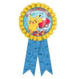 Amscan Pokemon Birthday Award Ribbon - 1ct.
