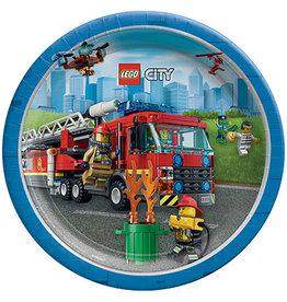 "Amscan Lego City 9"" Plates - 8ct."