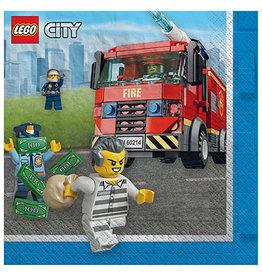 Amscan Lego City Beverage Napkins - 16ct.