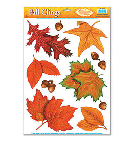 Beistle Fall Leaf Clings - 10ct.