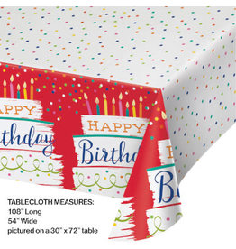 """creative converting Festive Cake Paper Tablecover - 54"""" x 102"""""""