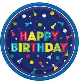 """unique Peppy Birthday 7"""" Cake Plates - 8ct."""