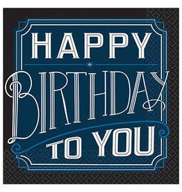 Amscan Happy Birthday Man Bev. Napkins - 16ct.