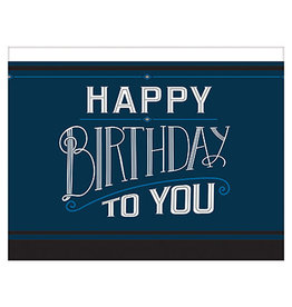 "Amscan Happy Birthday Man Tablecover - 54"" x 102"""