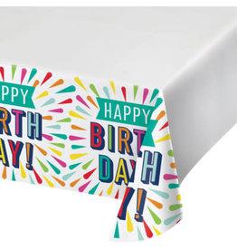 "creative converting Birthday Burst Paper Tablecover - 54"" x 102"""
