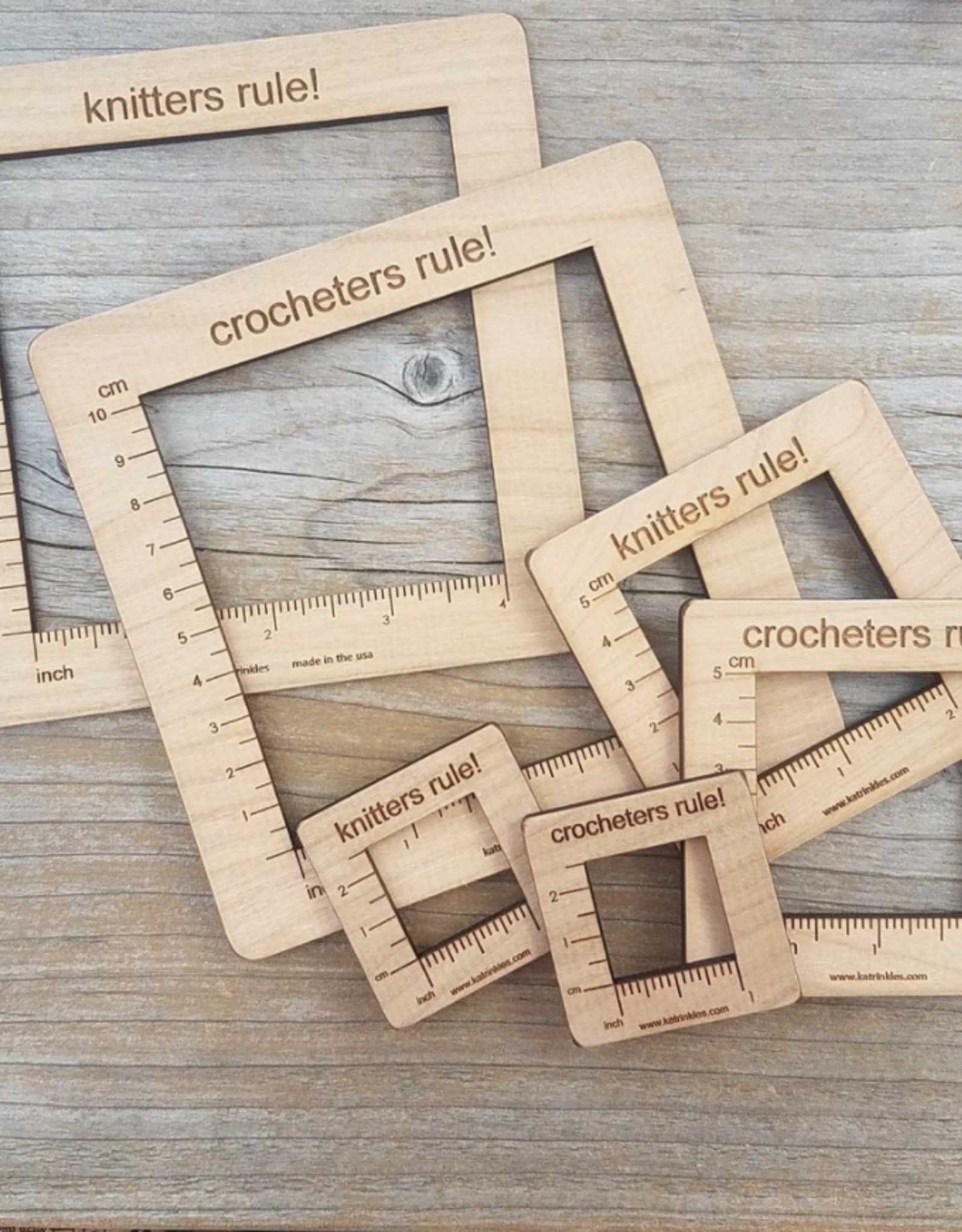 Katrinkles Wood Gauge Swatch Ruler