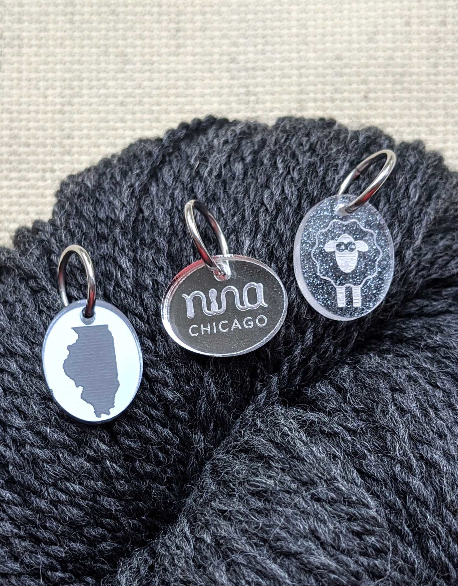 Katrinkles Custom Acrylic Ring Stitch Marker