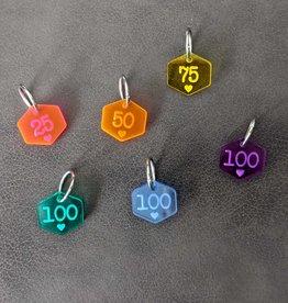 Katrinkles Rainbow Stitch Marker Set cast on counting