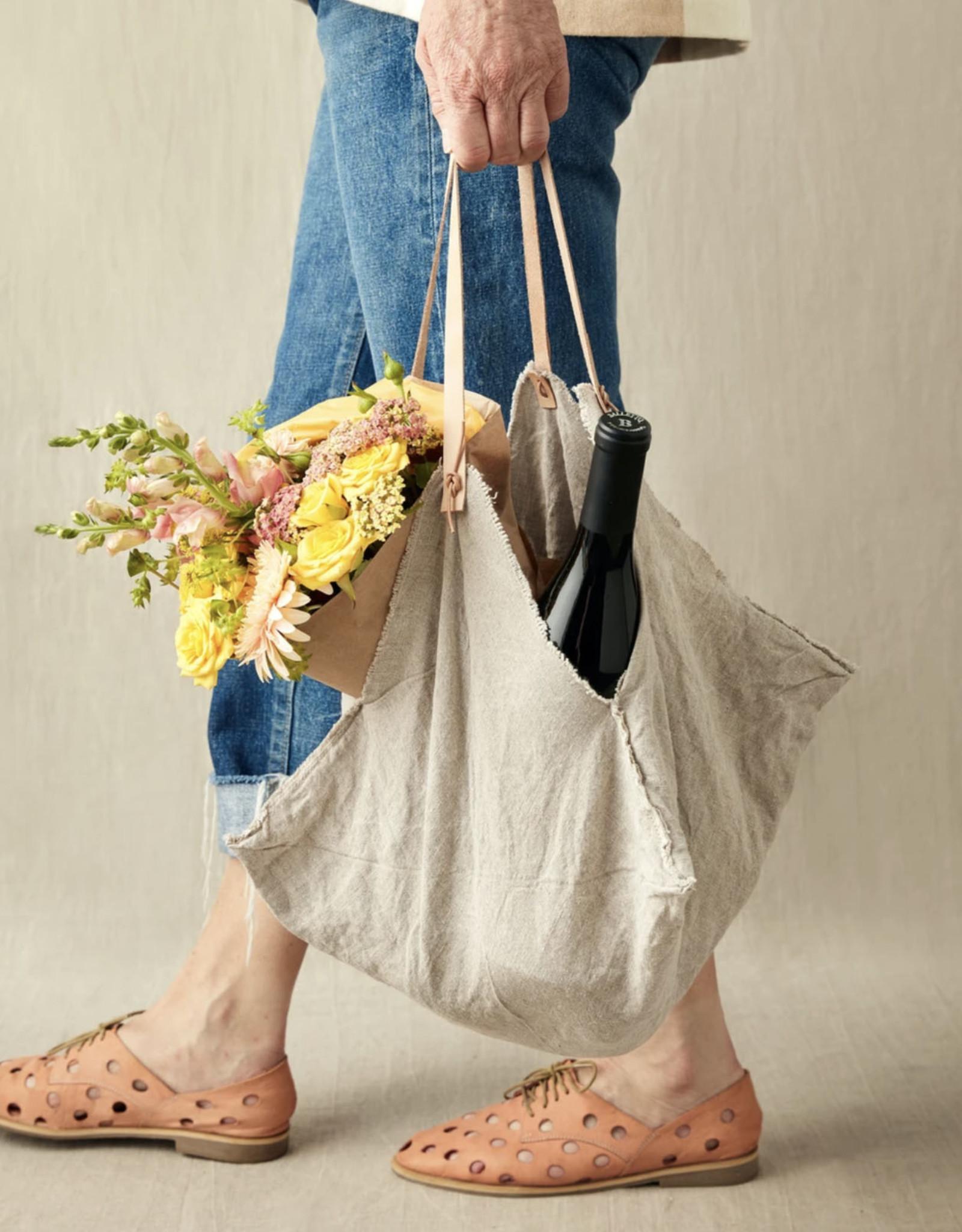 Cocoknits Rustic Linen Four Corner Bag-Medium